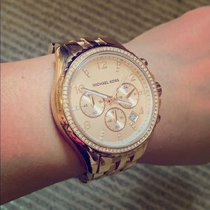 Used Michael Kors Rose Gold Watch